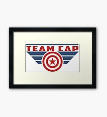 PLEASE SUPPORT TEAM CAP Framed Print