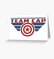 PLEASE SUPPORT TEAM CAP Greeting Card
