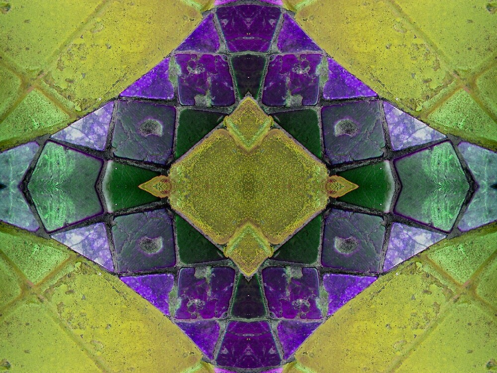 Purple Yellow Abstract by donnagrayson