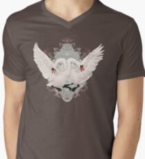 Warring Swans Mens V-Neck T-Shirt