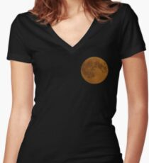 Amber moon Women's Fitted V-Neck T-Shirt