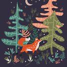 Evergreen Fox Tale by elenor27