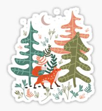 Evergreen Fox Tale Sticker