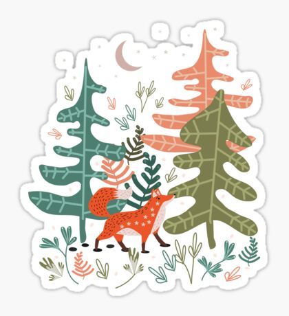 Evergreen Fox Tale Sticker
