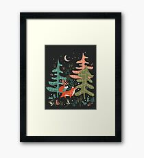 Evergreen Fox Tale Framed Print