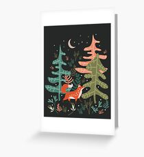 Evergreen Fox Tale Greeting Card