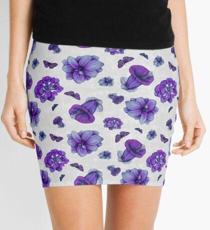 Flower Pattern Mini Skirt