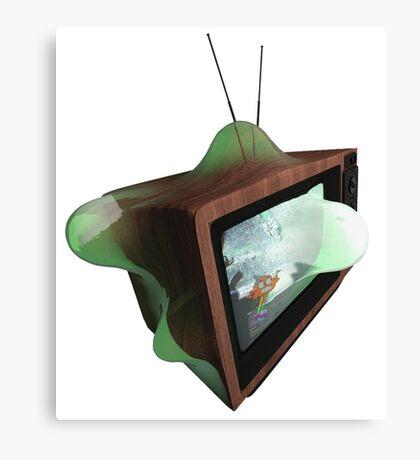 Warped Retro TV Canvas Print