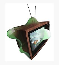 Warped Retro TV Photographic Print