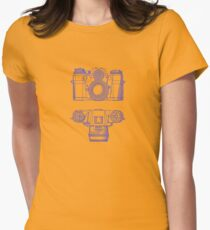 Vintage Photography - Contarex - Blue Womens Fitted T-Shirt