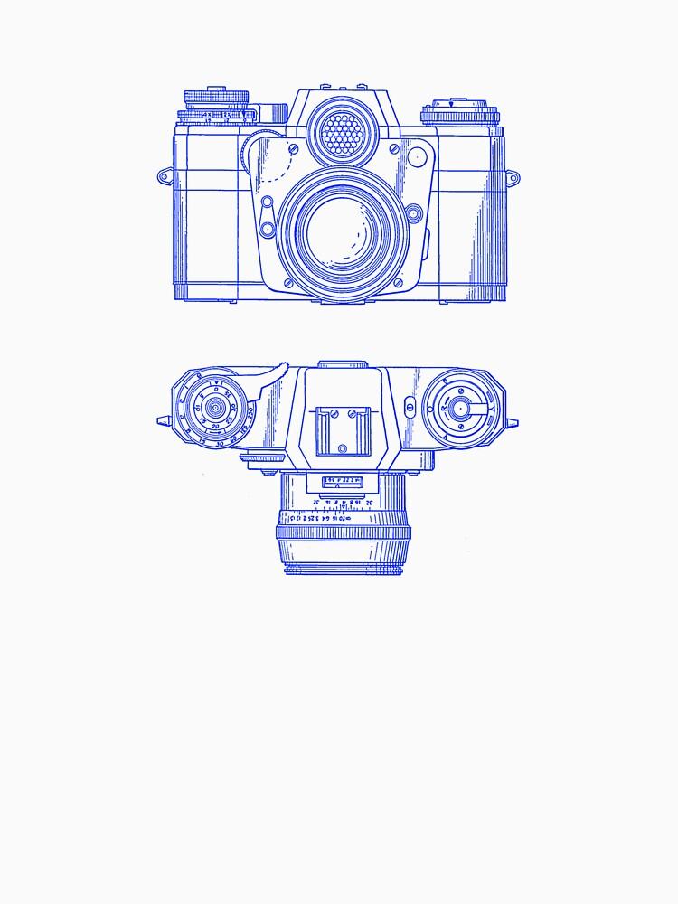 Vintage Photography - Contarex - Blue von brainsontoast