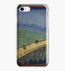 Vincent Van Gogh  - Bridge in the rain after Hiroshige, 1887 iPhone Case/Skin