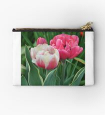 Pink and white tulips Studio Pouch