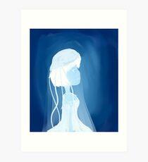 Jellyfish girl Art Print