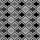 Four Shades Quatrefoil Pattern Monochrome by Ra12