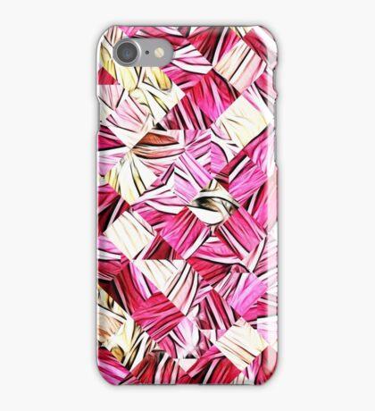 Pink Fractal Weave Patchwork Print iPhone Case/Skin