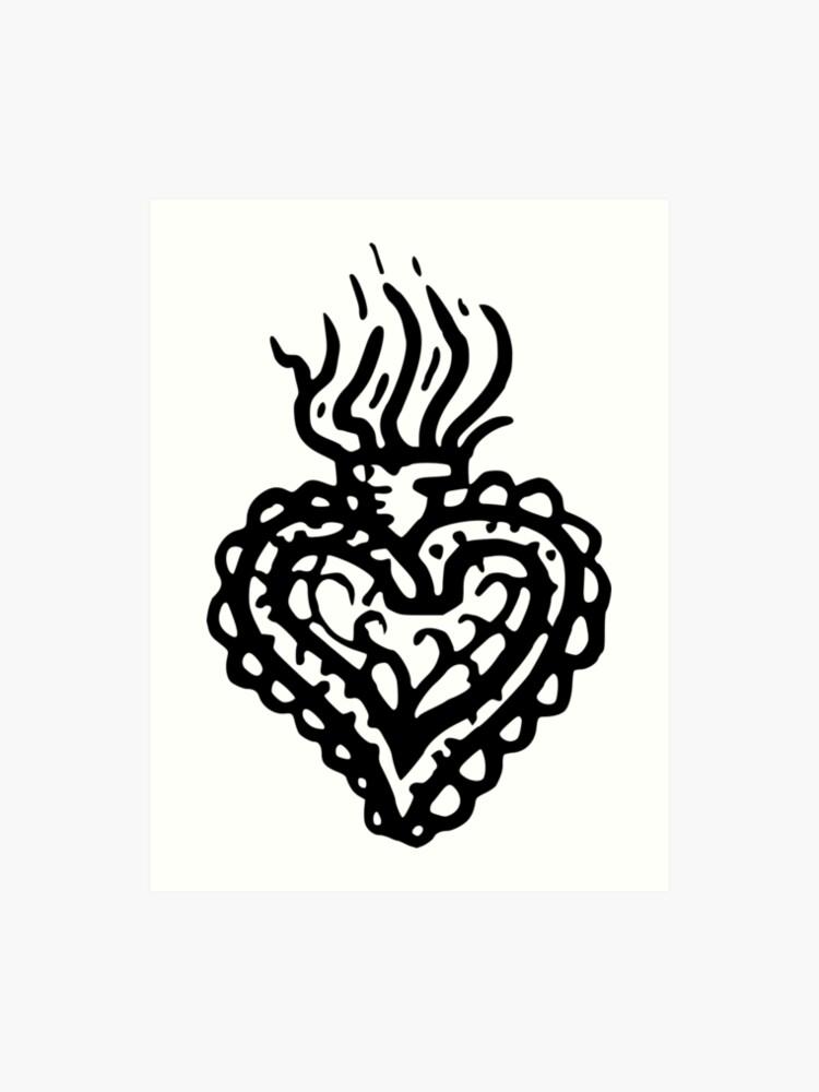 a02eae4db Sacred Heart Tattoo Style 2