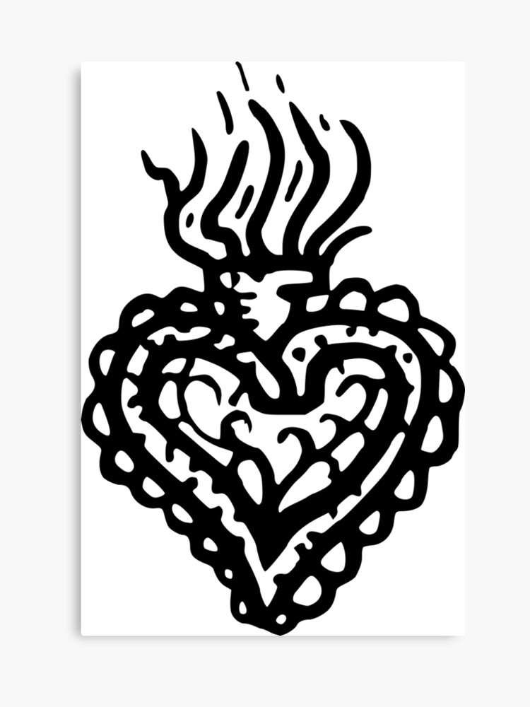 be900d586 Sacred Heart Tattoo Style 2