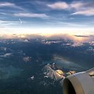 Dusk over Lakes Walchen and Kochel by Kasia-D