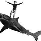 Shark Surfer by Matt West
