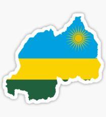 Flag Map of Rwanda Sticker