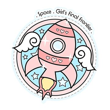 Pink Girl's Rocketship by gigglish