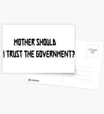 Pink Floyd Mother Should I Trust The Government T Shirt Postcards