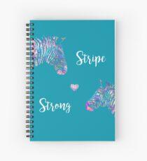 Stripe Strong Zebras Spiral Notebook