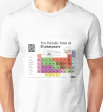 Periodic Table of Shakespeare [old version] Unisex T-Shirt
