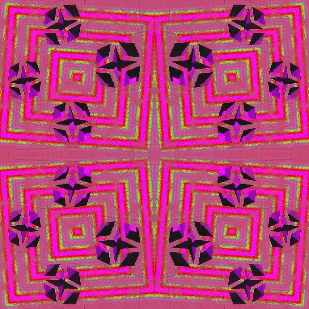 Pink crazy abstract by donnagrayson