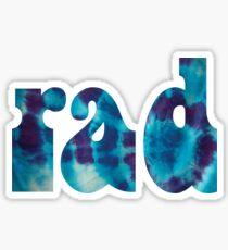 Rad Tie Dye Sticker