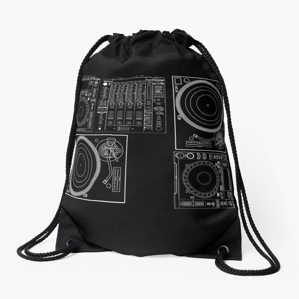 DJ Equipment Gear Drawstring Bag