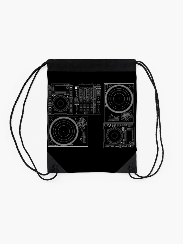 Alternate view of DJ Equipment Gear Drawstring Bag