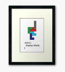 Tetris - Geek Chic Framed Print