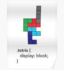 Tetris - Geek Chic Poster