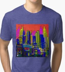$IN CITY: ABSTRACT CITYSCAPE (UNO) Tri-blend T-Shirt