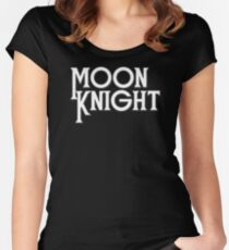 Moon Knight - Classic Title - Clean Women's Fitted Scoop T-Shirt