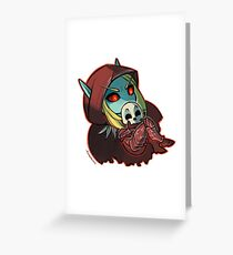 Dark Lady Cute Over You Greeting Card