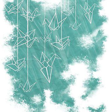 White Cranes ( Fade ) by MrZafra