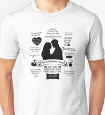 "Captain Swan ""Iconic Quotes"" Silhouette Design  T-Shirt"