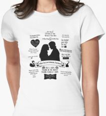 "Captain Swan ""Iconic Quotes"" Silhouette Design  Womens Fitted T-Shirt"