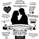 "Captain Swan ""Iconic Quotes"" Silhouette Design  by Marianne Paluso"