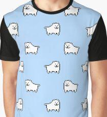 Undertale Annoying Dog - Pastel Blue Graphic T-Shirt