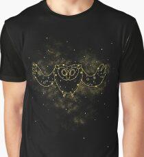 Cosmic Owl Graphic T-Shirt