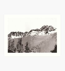 Sawtooth Mountains Art Print