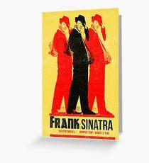 Frank Sinatra Letterpress Poster Greeting Card