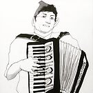 Accordion Player by Simon O'Carrigan