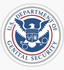 Department Of Genital Security (D.O.G.S) Sticker