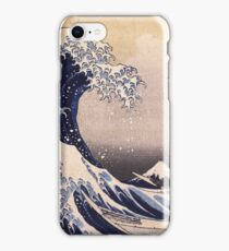 Katsushika Hokusai - The Great Wave Off the Coast of Kanagawa 19th century . Japanese Seascape iPhone Case/Skin