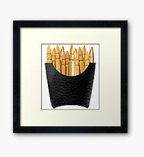 Bullet Fries Framed Print